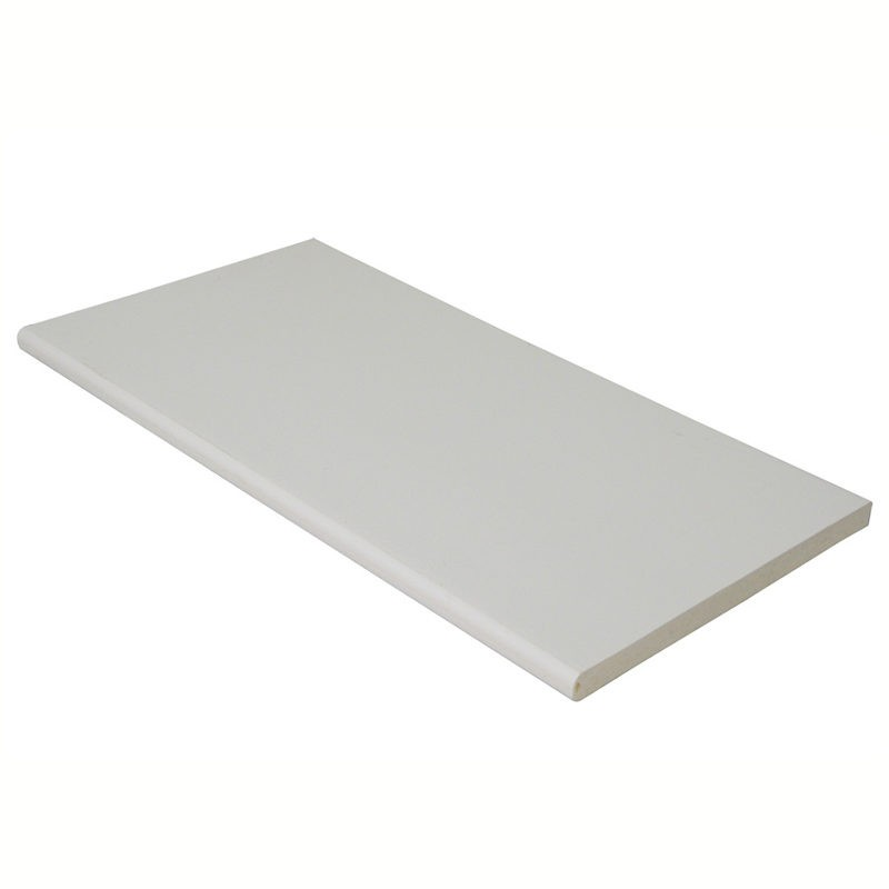 FLOPLAST Multi-Purpose Board 10mm - Double Round Edge - 600mm - Various Woodgrain Foil Colours/White