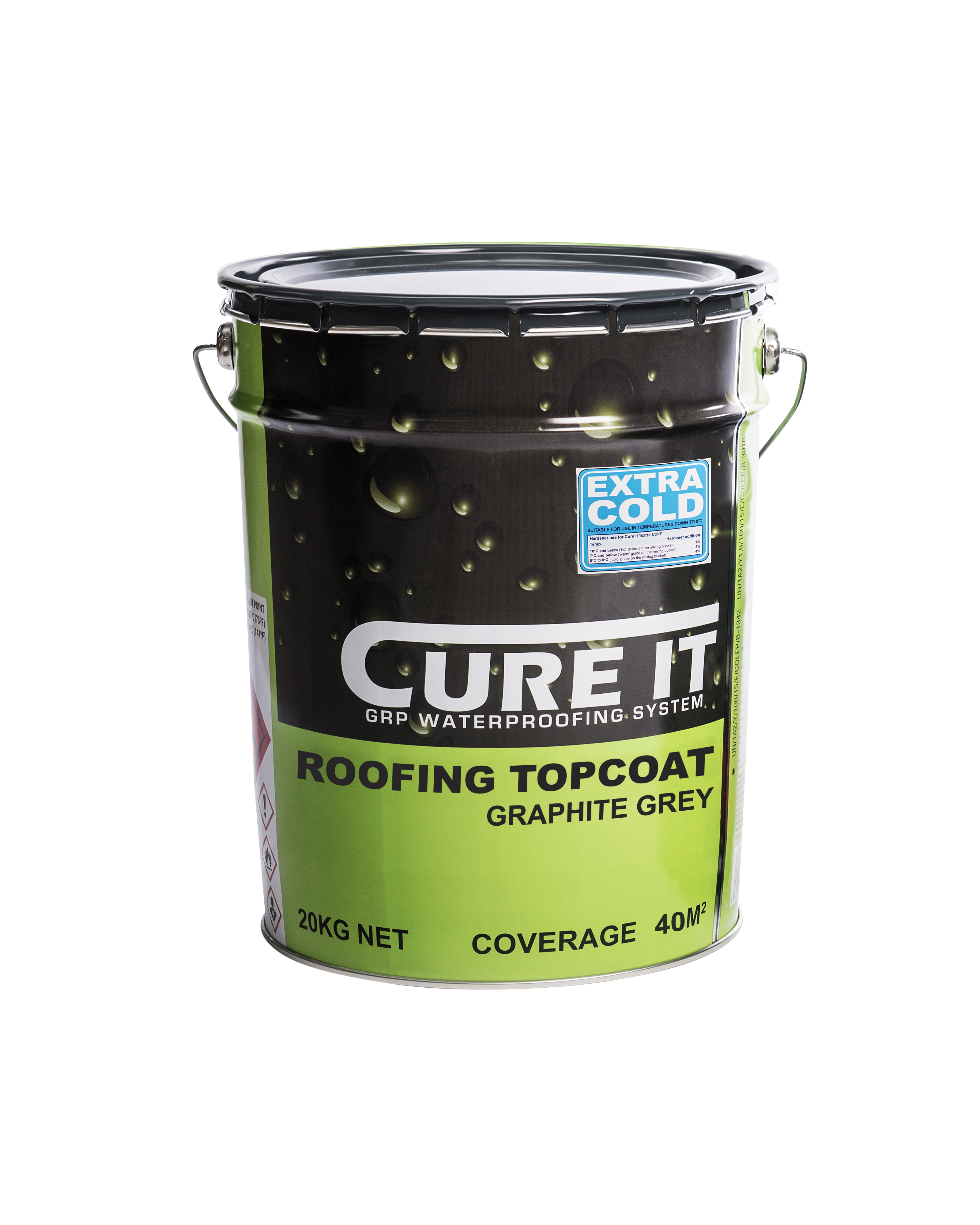 Cure It GRP Roofing Topcoat Graphite 20Kg   CITRTOPCG20