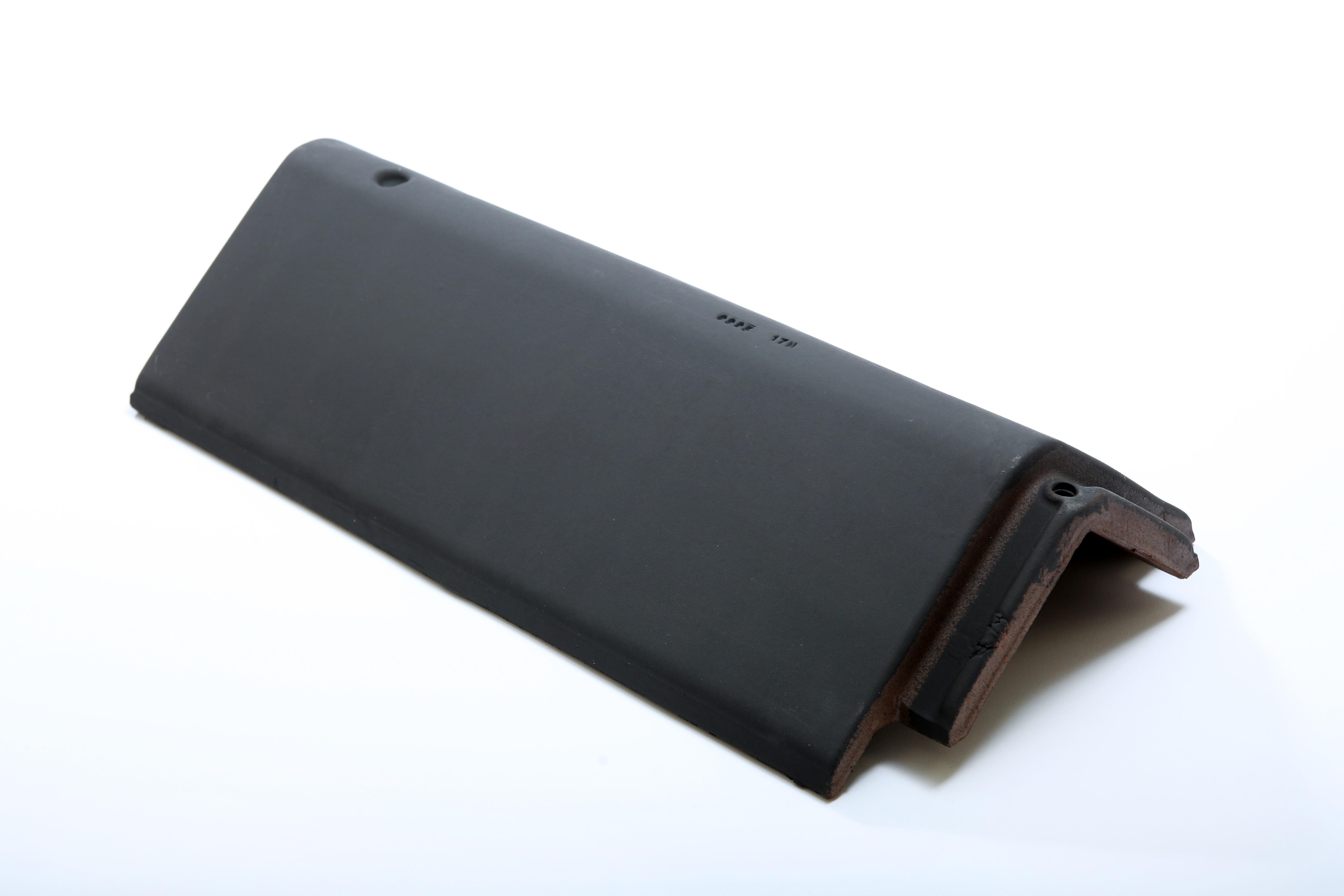 LAGAN HIP RIDGE Tile 450mm BLACK  LAGHIPR450B