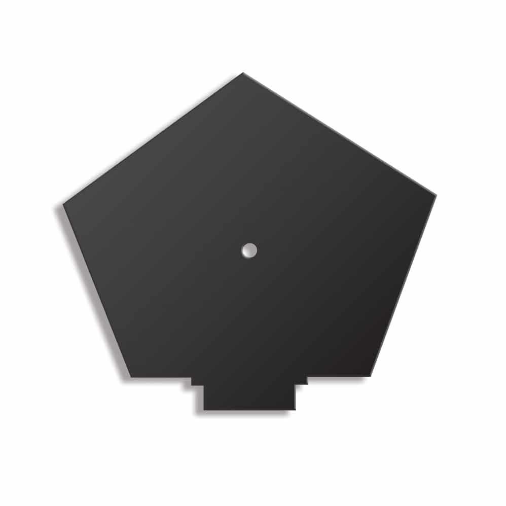 CONTINUOUS DRY VERGE RIDGE END CAP BLACK RTYPE  ETRDVRRTYPE