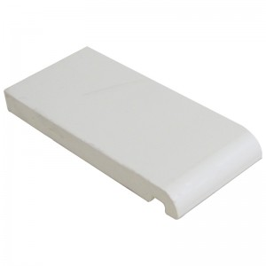 FLOPLAST Mammoth Bullnose Board 16mm - Single Round Edge - 150mm - White