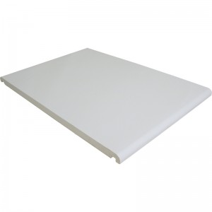 FLOPLAST Mammoth Bullnose Board 16mm - Double Round Edge - 400mm - White