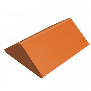 SANDTOFT TILES - Clay Angle Ridge With Gable Stop End