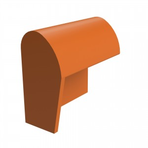SANDTOFT TILES - Clay Half Round Mono Ridge With Block End LH