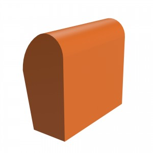 SANDTOFT TILES - Clay Half Round Mono Ridge With Block End RH