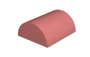 MARLEY TILES Clay 305mm Half Round Ridge Stop End