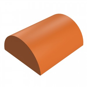 SANDTOFT TILES - Clay Half Round Ridge With Gable Stop End