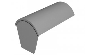 MARLEY TILES Concrete 457mm Modern Stop End Ridge