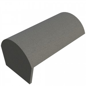 SANDTOFT TILES - Concrete Half Round Ridge With Block End