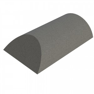 SANDTOFT TILES - Concrete Half Round Ridge With Hip End