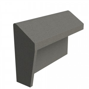 SANDTOFT TILES - Concrete Legged Angle Mono Ridge With Block End LH