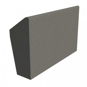 SANDTOFT TILES - Concrete Legged Angle Mono Ridge With Block End RH