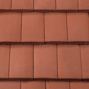 REDLAND ROOFING TILE DuoPlain, 11 Tuscan Red (Coated), Smooth Finish, Concrete