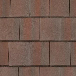 REDLAND ROOFING TILE DuoPlain, 40 Rustic Brown (Coated), Smooth Finish, Concrete