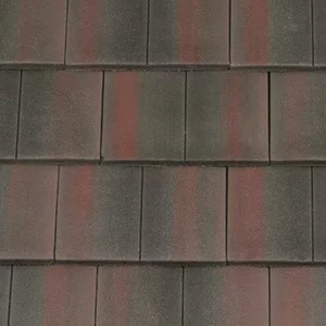 REDLAND ROOFING TILE DuoPlain, 45 Rustic Black (Coated), Smooth Finish, Concrete
