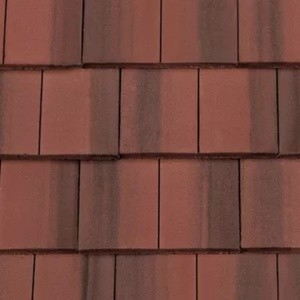 REDLAND ROOFING TILE DuoPlain, 78 Rustic Red (Coated), Smooth Finish, Concrete