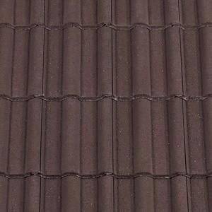 REDLAND ROOFING TILE 50 Double Roman, 02 Brown (Granular), Sanded / Granular, Concrete