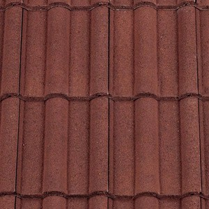 REDLAND ROOFING TILE 50 Double Roman, 03 Antique Red (Granular), Sanded / Granular, Concrete