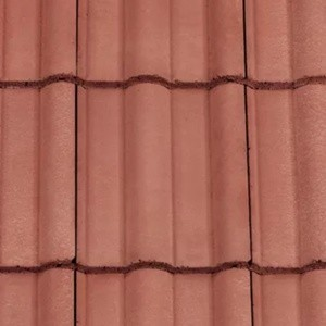 REDLAND ROOFING TILE 50 Double Roman, 34 Terracotta, Smooth Finish, Concrete