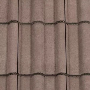 REDLAND ROOFING TILE 50 Double Roman, 36 Tudor Brown, Smooth Finish, Concrete