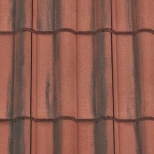 REDLAND ROOFING TILE 50 Double Roman, 39 Farmhouse Red, Smooth Finish, Concrete