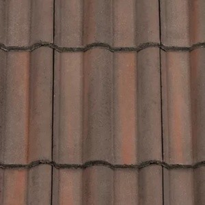REDLAND ROOFING TILE 50 Double Roman, 52 Breckland Brown, Smooth Finish, Concrete