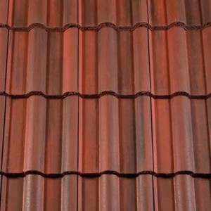 REDLAND ROOFING TILE 50 Double Roman, 78 Rustic Red (Coated), Smooth Finish, Concrete