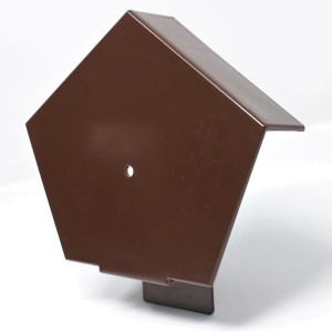 CONTINUOUS DRY VERGE RIDGE R TYPE END CAP - BROWN  ETRDVECBR