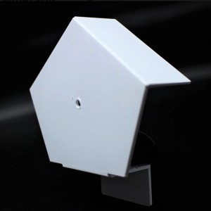CONTINUOUS DRY VERGE RIDGE R TYPE END CAP - WHITE  ETRDVECW