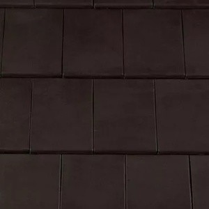 REDLAND ROOFING TILE Fontenelle Interlocking Clay Plain Tile, 79 Black, Smooth Finish, Clay