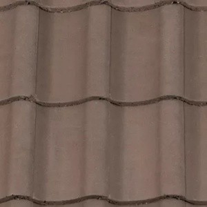 REDLAND ROOFING TILE Fenland Pantile, 36 Tudor Brown, Smooth Finish, Concrete