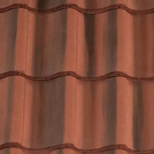 REDLAND ROOFING TILE Fenland Pantile, 39 Farmhouse Red, Smooth Finish, Concrete
