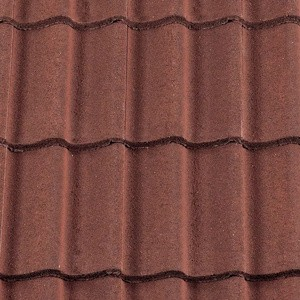 REDLAND ROOFING TILE Grovebury, 03 Antique Red (Granular), Sanded / Granular, Concrete