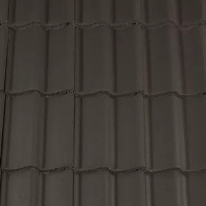 REDLAND ROOFING TILE Grovebury, 77 Charcoal Grey (Coated), Smooth Finish, Concrete