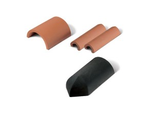 Half Round (plain & capped) and Non Angular Sections Ridge Tiles