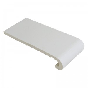 FLOPLAST Hockey Window Board 9mm - Single Round Edge - 150mm - White