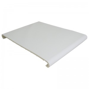 FLOPLAST Hockey Window Board 9mm - Double Round Edge - 400mm - White