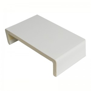 FLOPLAST Square Edge Universal Board 9mm Double Leg - 400mm - White