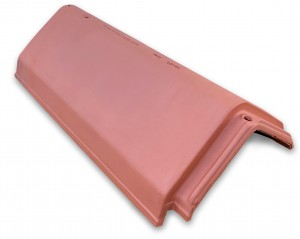 LAGAN UNIVERSAL RIDGE Tile 450mm Red  LAGUNIR450R