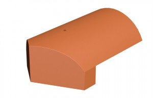 MARLEY TILES Lincoln Clay 375mm Third Round Hip End