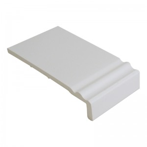 FLOPLAST Ogee Fascia Board 10mm - Single Leg - 250mm - White