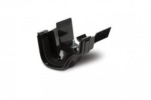 POLYPIPE Above Ground -  Ogee Extra Capacity Gutter 130mm x 70mm PVCu