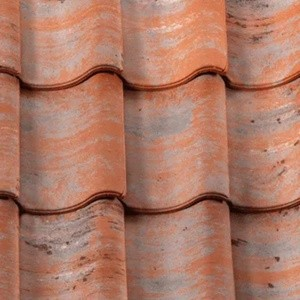 REDLAND ROOFING TILE Old Hollow Clay Pantile, 80 Vintage Red, Sanded / Granular, Clay