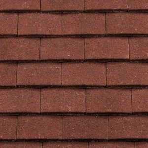 REDLAND Plain Roofing Tile, 03 Antique Red (Granular), Sanded / Granular, Concrete