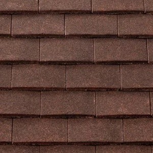 REDLAND Plain Roofing Tile, 27 Natural Red (Sanded), Sanded / Granular, Concrete
