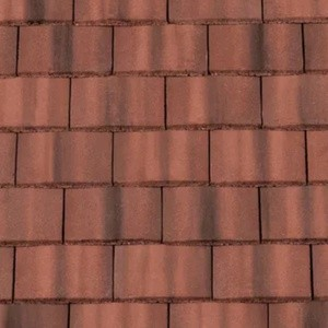 REDLAND Plain Roofing Tile, 39 Farmhouse Red, Smooth Finish, Concrete
