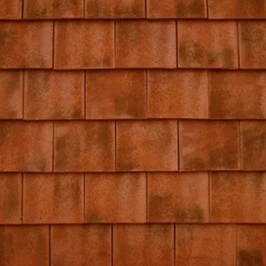 REDLAND ROOFING TILE Rosemary Classic Ornamental, 91 Burnt Blend (Sanded), Sanded / Granular, Clay