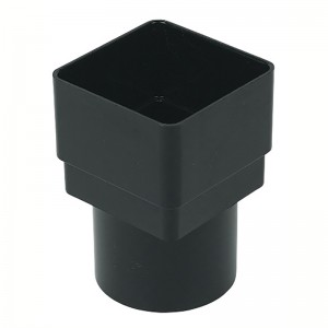 FLOPLAST Guttering 65mm Square - Square/Round Downpipe Adaptors