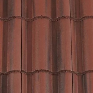 REDLAND ROOFING TILE Regent, 78 Rustic Red (Coated), Smooth Finish, Concrete