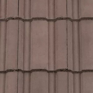 REDLAND ROOFING TILE Renown, 36 Tudor Brown, Smooth Finish, Concrete